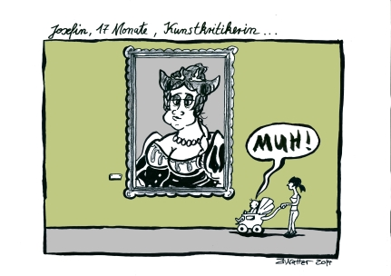 Kunstkritik Eutin-Cartoon