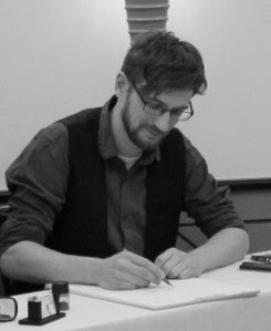 Jens Natter- Lesung und Zeichnung