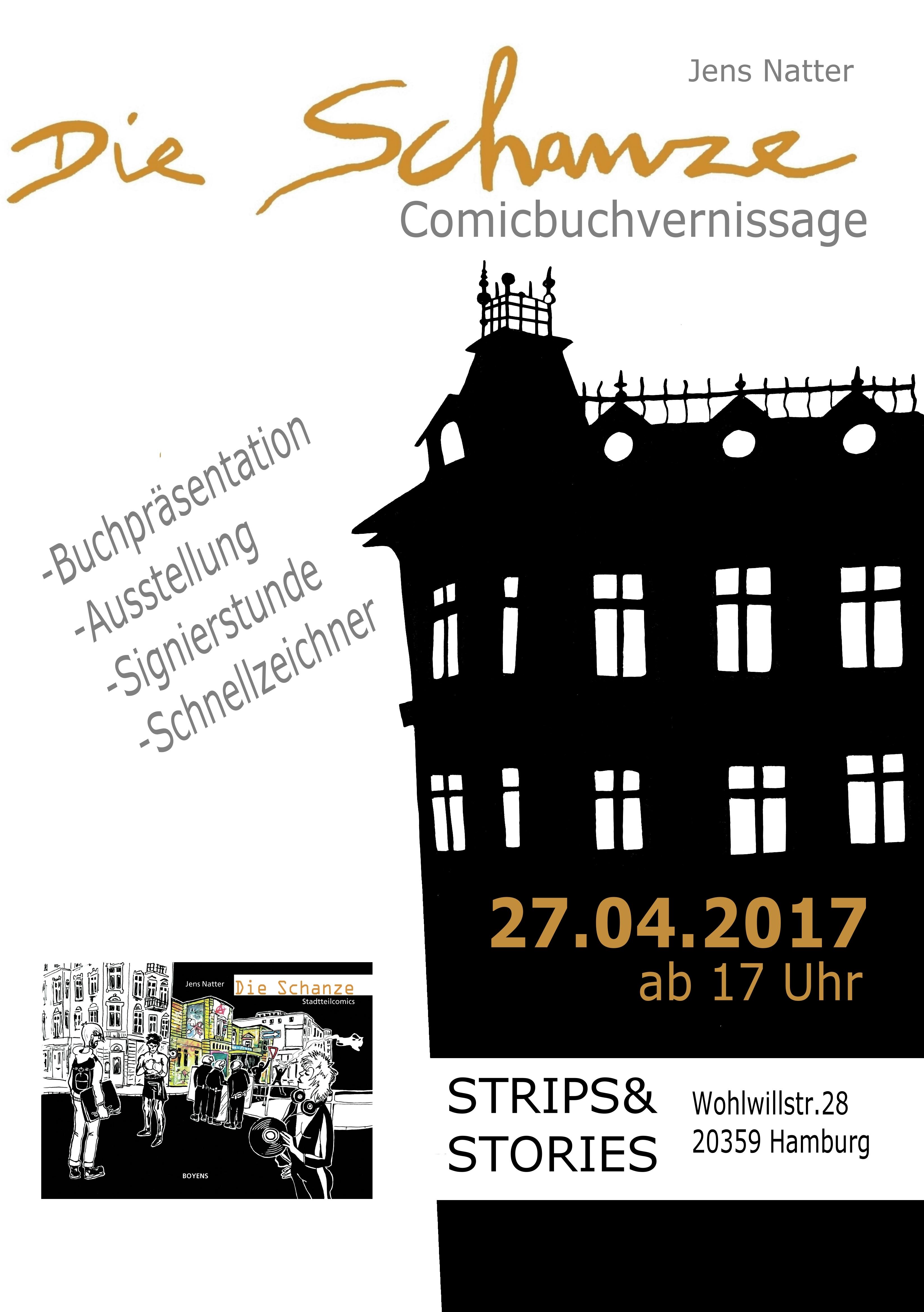 Plakat Schanze Strips&Stories