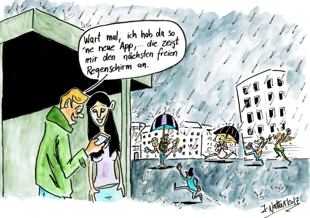 Regen-Cartoon