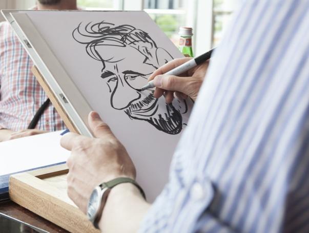 Karikatur-Staffelei