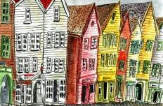 Bryggen Viertel in Bergen