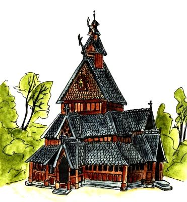 Stabkirche Oslo/ Stavkirke Norsk Folkemuseum