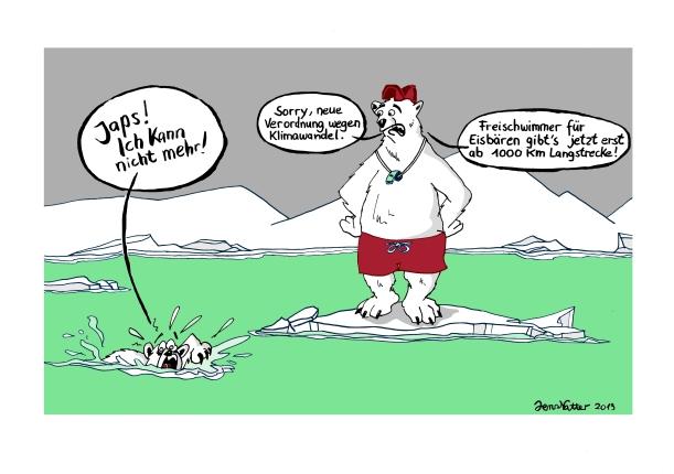 Arktischer Schwimmkurs