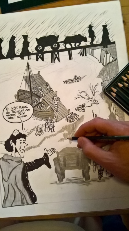 Schiffsanleger-Mittelalter