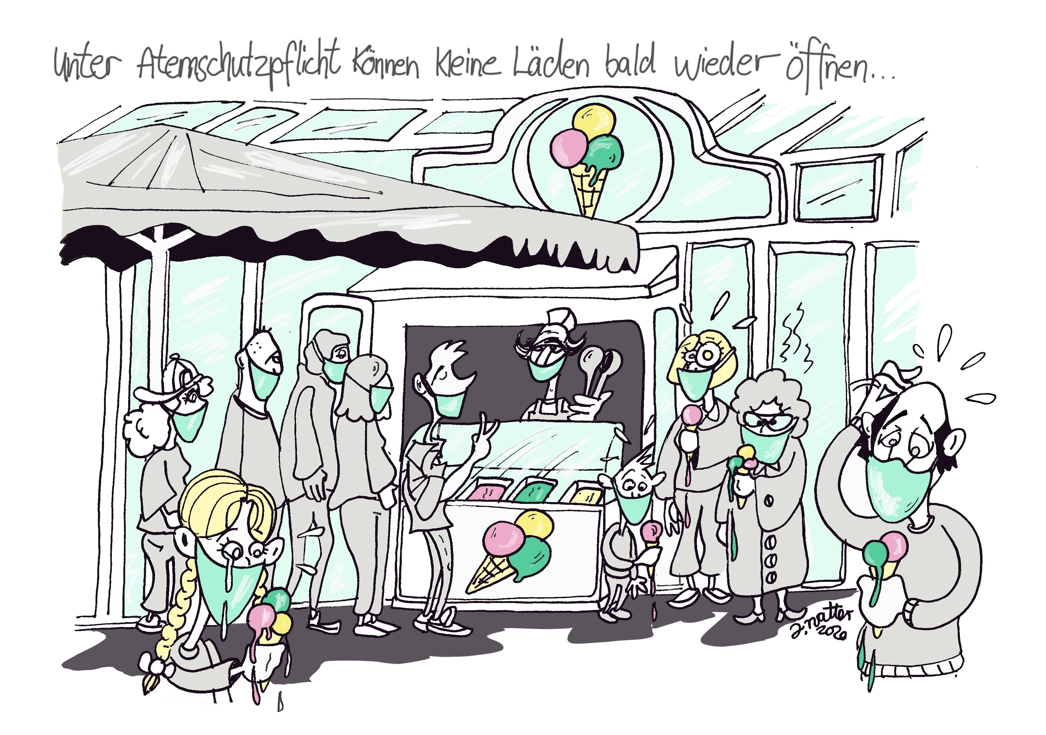 10.Corona kleine Läden Eis